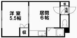 トータスプラザ[408号室]の間取り