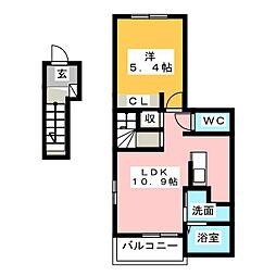 ラフェリカーナ・M[2階]の間取り