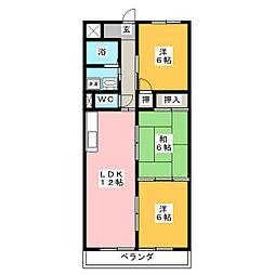 アパートメントハウス朴の樹[3階]の間取り