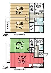 [タウンハウス] 千葉県富里市日吉台5丁目 の賃貸【/】の間取り