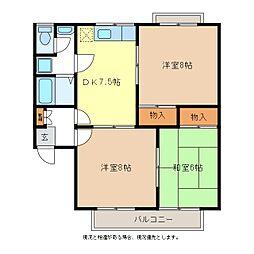 グランドハイツ宮島B棟[1階]の間取り