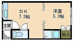 北海道小樽市富岡2丁目の賃貸アパートの間取り