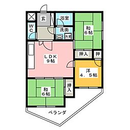 ベルシャトー社台[3階]の間取り