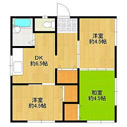 たつみ荘[2階号室]の間取り