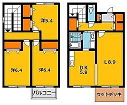 さくらハウス[105号室]の間取り