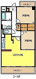 愛知県名古屋市港区いろは町4丁目の賃貸マンションの間取り