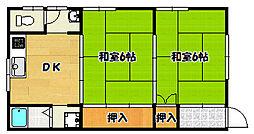 兵庫県神戸市兵庫区中道通3丁目の賃貸アパートの間取り