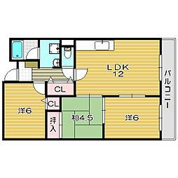 メゾンドオール[5階]の間取り