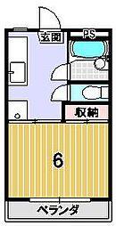 サンシャイン永井[205号室]の間取り