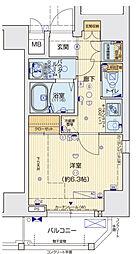 Osaka Metro千日前線 阿波座駅 徒歩7分の賃貸マンション 7階1Kの間取り
