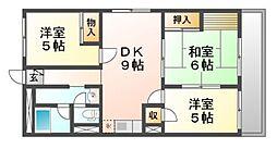 バッハレジデンス武庫之荘[1階]の間取り