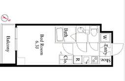 京王線 笹塚駅 徒歩4分の賃貸マンション 5階1Kの間取り