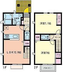 [テラスハウス] 神奈川県相模原市南区上鶴間1丁目 の賃貸【/】の間取り