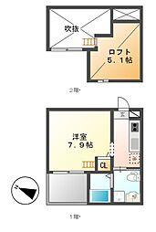 ローズピーク[2階]の間取り