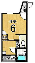 ホワイトグリーン6号館[303号室]の間取り