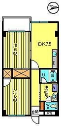 第二彦田マンション[3階]の間取り