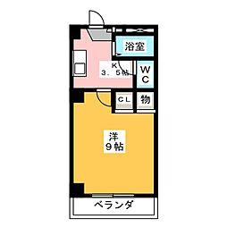 AMENITY中央[2階]の間取り