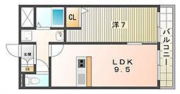 グランパシフィック萱島[2階]の間取り