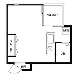 A2ビル[413号室]の間取り
