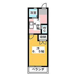 リヴァーサイド3[2階]の間取り
