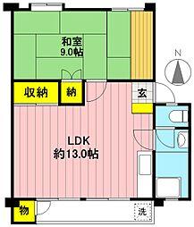 富士見町住宅21号棟[402号室]の間取り