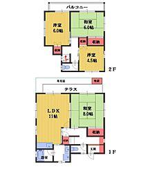 [一戸建] 埼玉県さいたま市南区太田窪2丁目 の賃貸【/】の間取り