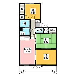 アレフ2[3階]の間取り