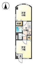 376ハウス[2階]の間取り