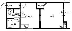 長崎県長崎市愛宕3丁目の賃貸アパートの間取り