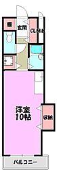 タツミ第6ハイツ新館[4階]の間取り