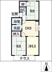 シャンポールC棟[1階]の間取り