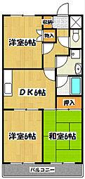 原第3マンション[1階]の間取り