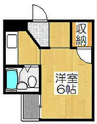 紅彩ハウス[206号室]の間取り
