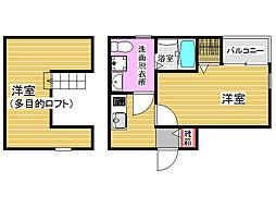 アウグーリ室見[2階]の間取り