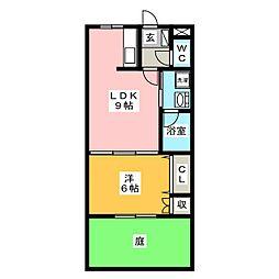 サンパレスハイム[1階]の間取り