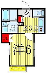 JR京浜東北・根岸線 赤羽駅 徒歩8分の賃貸マンション 1階1Kの間取り