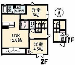 シャーメゾン月虹[2階]の間取り
