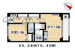 ハウス小林[203号室]の間取り