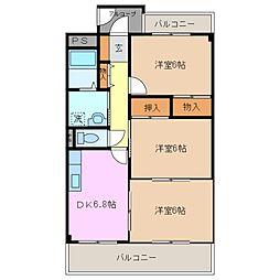 三重県鈴鹿市算所5丁目の賃貸マンションの間取り