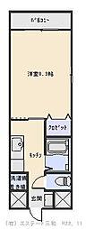 トレステーラ中殿[305号室]の間取り
