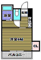 パールハウス北野田[2階]の間取り