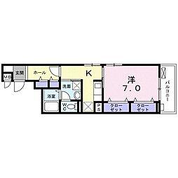 南海線 住吉大社駅 徒歩6分の賃貸アパート 2階1Kの間取り