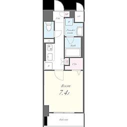 名古屋市営東山線 池下駅 徒歩9分の賃貸マンション 8階1Kの間取り
