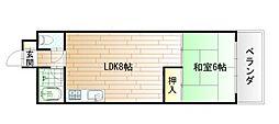 ヒットパークレジデンス三萩野[6階]の間取り