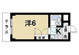 奈良県奈良市南京終西町の賃貸マンションの間取り