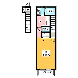 カーサシェリール[2階]の間取り