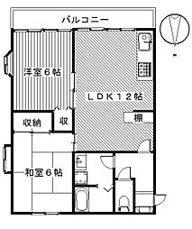 フォレストハウス[3A,1A号室]の間取り