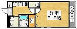 大阪府堺市堺区今池町3丁の賃貸アパートの間取り