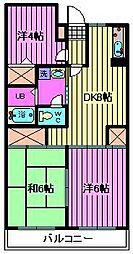 コアロード与野[1階]の間取り