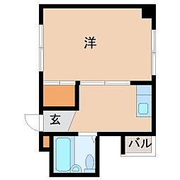 兵庫県尼崎市常光寺2丁目の賃貸マンションの間取り
